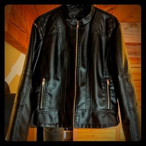 Giacca faux leather Moto jacket